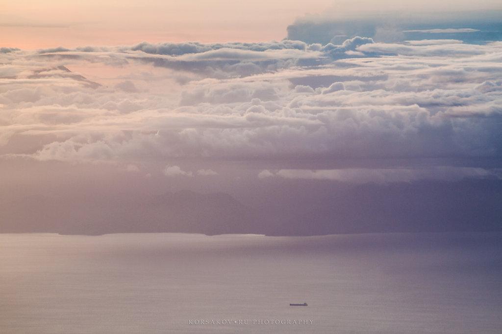 Sky meets the ocean