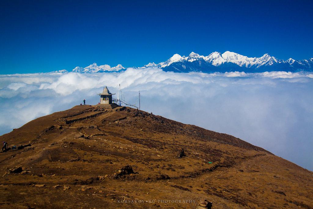 Stupa in Himalayas (Annapurna view)